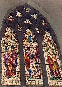 Stained Glass windows at St. Michael's Catholic Church (1850) Shimla.