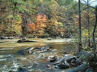 Sweetwater Creek (Chattahoochee River tributary) - Sweetwater creek in the fall