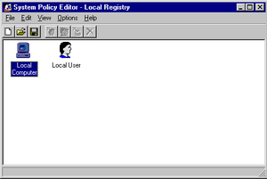 System Policy Editor in Windows NT 4.0
