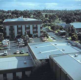 Telstra Research Laboratories - TRL in 1983 from the antenna towers on Building M5