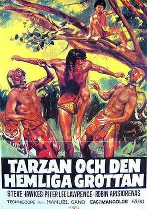Tarzan in film and other non-print media - Swedish film poster for Tarzan and the Brown Prince
