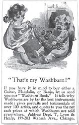 Advertisement for American made mandolin