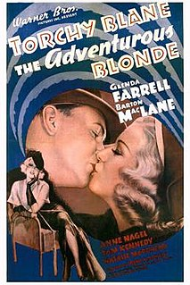 <i>The Adventurous Blonde</i> 1937 film by Frank McDonald