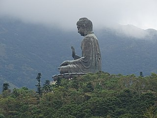 Tian Tan Buddha Large bronze statue of a Buddha Amoghasiddhi in Hong Kong