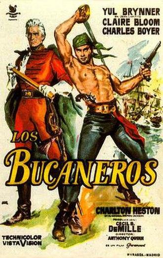 The Buccaneer (1958 film) - Original Spanish film poster