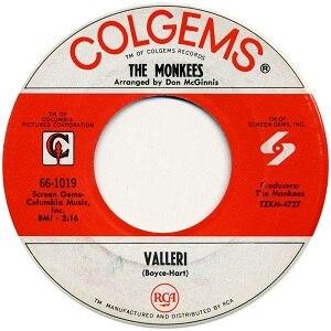 Valleri - Image: The Monkees single 06 Valleri