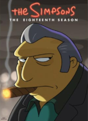 The Simpsons (season 18) - DVD cover