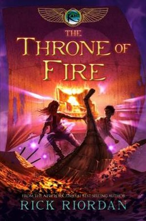 The Throne of Fire - Cover of first edition