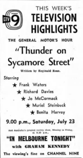 Thunder on Sycamore Street 3rd episode of the first season of The General Motors Hour