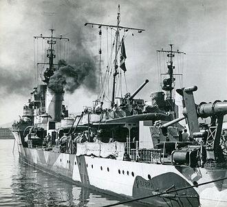 Attack on Convoy AN 14 - Italian torpedo boat Libra