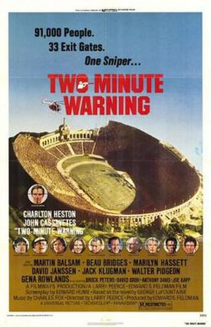 Two-Minute Warning - Theatrical release poster