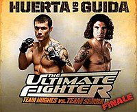 A poster or logo for The Ultimate Fighter: Team Hughes vs. Team Serra Finale.