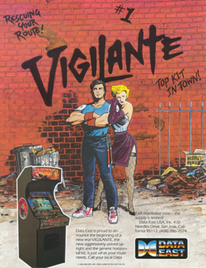 Vigilante (video game) - North American arcade flyer of Vigilante.
