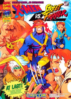 X-Men vs. Street Fighter - Promotional flyer