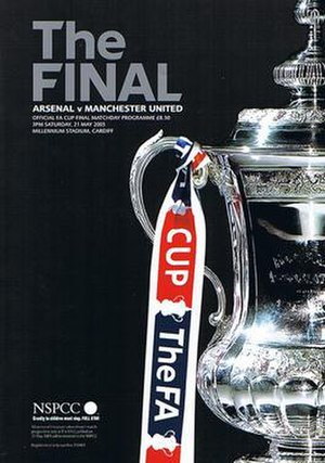 2005 FA Cup Final - The match programme cover