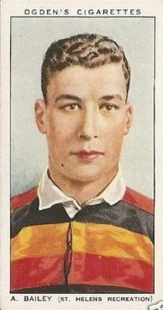 St Helens Recreation RLFC - Albert Bailey, an early Recs player and international