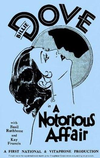 A Notorious Affair - Image: A Notorious Affair 1930 Poster