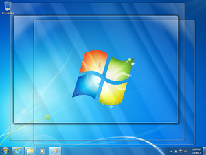 Windows Aero - Aero Peek, showing the desktop