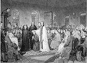 Asbury's consecration as bishop in 1784.