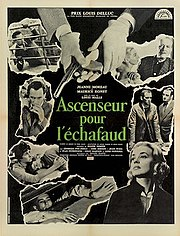 Poster for Ascenseur pour l'échafaud (or Elevator to the Gallows, Eng. trans)