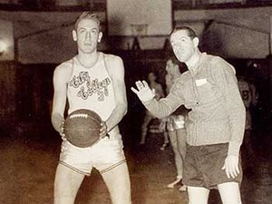 Bernie Fliegel - Fliegel (left) with head coach Nat Holman