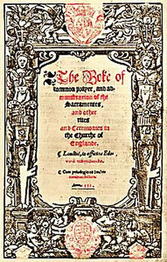 Book of Common Prayer - Cranmer's Prayer book of 1552