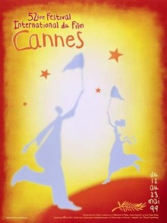 1999 Cannes Film Festival - Official poster of the 52nd Cannes Film Festival featuring an original illustration by Jean-Pierre Gendis.