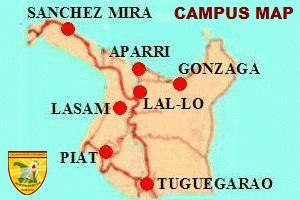 Cagayan State University - Map showing the location of CSU campuses in Cagayan