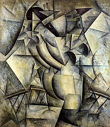 Carlo Carra, 1912, Concurrency, Woman on the Balcony, (Simultaneità, La donna al balcone), Collezione R. Jucker, Milan, Italy.jpg