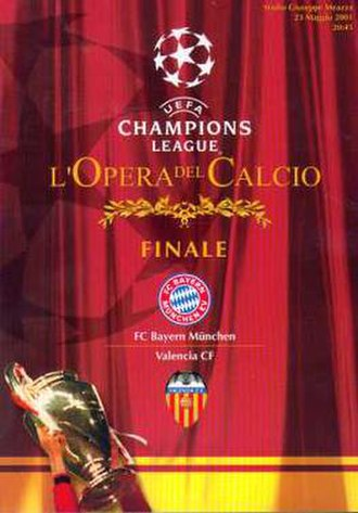 2001 UEFA Champions League Final - Match programme cover