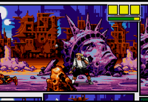 Comix Zone - Screenshot from the start of Comix Zone.