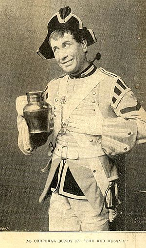 Arthur Williams (actor) - Williams as Corporal Bundy in The Red Hussar