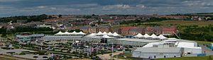 Dalton Park - Bird view shot of the shopping centre