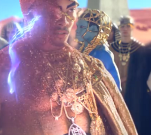 "Dark Horse (Katy Perry song) - The video was criticized for when Perry's character disintegrated a man, originally seen wearing a pendant appearing to display the Arabic word for ""Allah"", which was subsequently edited out of the video"