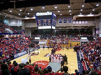 2009–10 Duquesne Dukes men's basketball team - The nearly sold-out Palumbo Center during the Dayton game on February 21.
