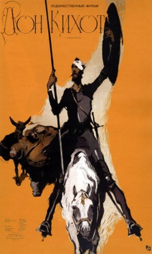 Don Quixote (1957 film) - 1957 film poster by Vladimir Kononov