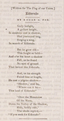 Eldorado Poem Wikipedia
