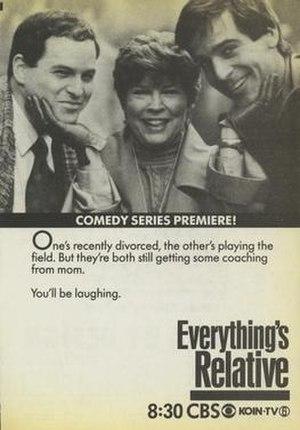 Everything's Relative (1987 TV series) - Series premiere print advertisement