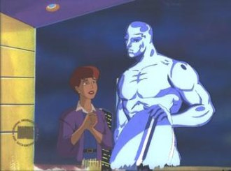 Alicia Masters - Image: FF cartoon Alicia Masters and Silver Surfer