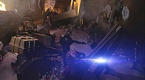 Screenshot from the television program Farscape
