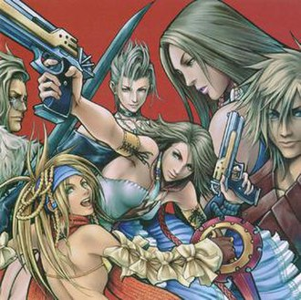 Characters of Final Fantasy X and X-2 - Characters of Final Fantasy X-2 as shown from left to right: Nooj, Rikku, Paine, Yuna, Lenne and Shuyin.