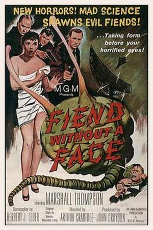 Fiend Without a Face - Theatrical release poster