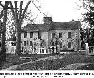 William Greene (governor) - The Governor Greene Mansion where Greene and his father both lived
