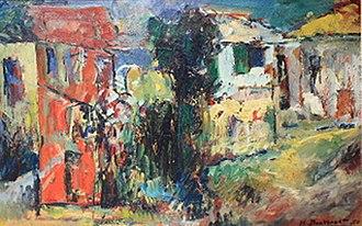 Hans Burkhardt - Hans Burkhardt, Untitled, 1950. Oil on canvas