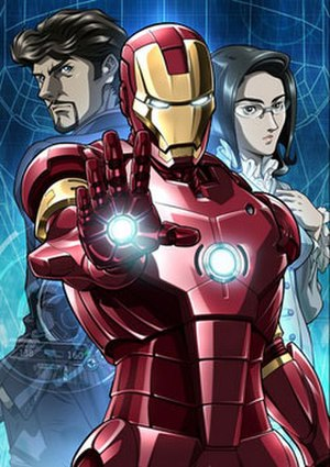 Marvel Anime - Cast of Iron Man, Tony Stark and Dr. Chika Tanaka