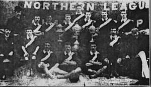 Northern Football League - Middlesbrough Ironopolis were champions three times in a row in the 1890s.