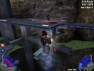 Star Wars Jedi Knight: Jedi Academy - A multiplayer game where a flag carrier redirects a rocket using the Force.