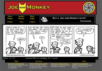 Joe and Monkey - Joe and Monkey Home Page