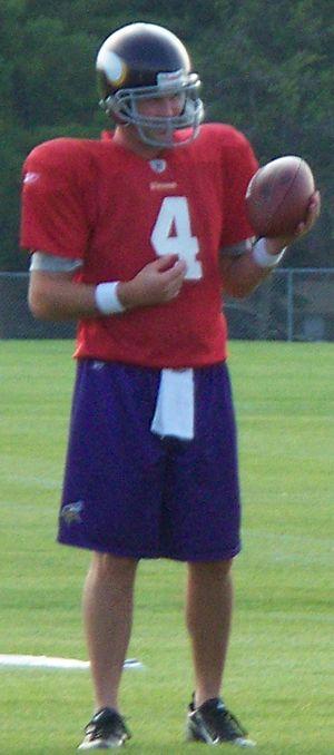 John David Booty - Booty at 2008 Minnesota Vikings training camp.