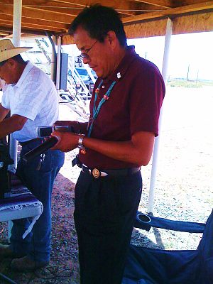 Navajo Nation Council - Council Delegate Kenneth Maryboy informing his supports of Peter Macdonald's endorsement (2010)